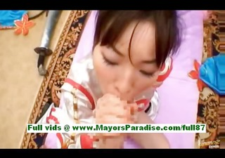 mature asian wife acquires a oral-service