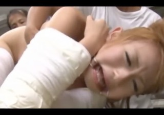 asian receiving forceful clit stimulation